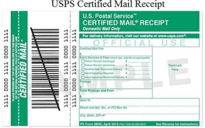 USPS Certified Mail