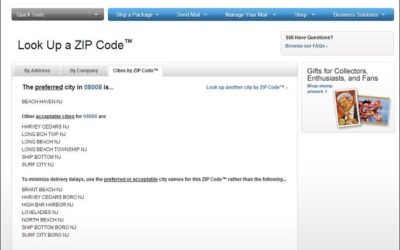 usps zipcodes